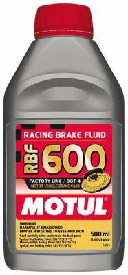 Braking - Brake Fluid - Motul  - Motul RBF 600 - Racing DOT 4 (500mL/ 1.05 US Pint)