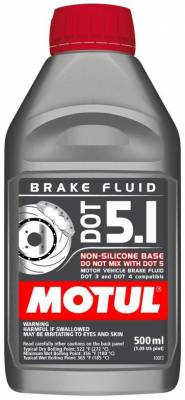 Braking - Brake Fluid - Motul  - Motul DOT 5.1 (500mL/ 1.05 US Pint)