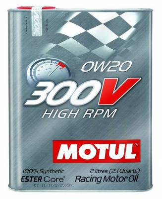 Motor Oil and Fluids - Motor Oil - Motul  - Motul 300V HIGH RPM 0W20 (2L/ 2.1Quart)