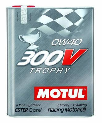 Motor Oil and Fluids - Motor Oil - Motul  - Motul 300V TROPHY 0W40 (2L/ 2.1Quart)