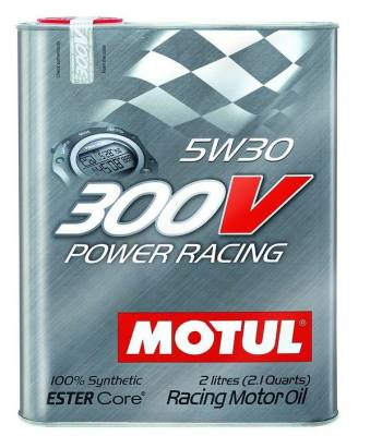 Motor Oil and Fluids - Motor Oil - Motul  - Motul 300V POWER RACING 5W30 (2L/ 2.1Quart)