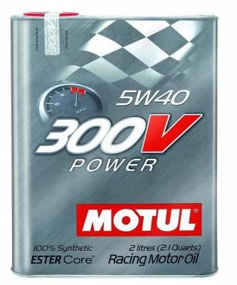 Motor Oil and Fluids - Motor Oil - Motul  - Motul 300V POWER 5W40 (2L/ 2.1Quart)