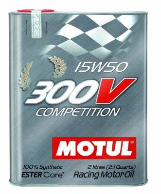 Motor Oil and Fluids - Motor Oil - Motul  - Motul 300V COMPETITION 15W50 (2L/ 2.1Quart)