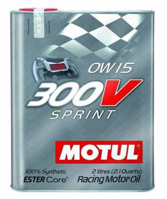 Motor Oil and Fluids - Motor Oil - Motul  - Motul 300V SPRINT 0W15 (2L/2.1Quart)