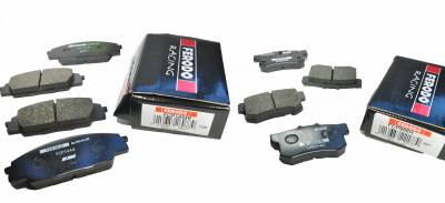 Braking - Brake Packages - Ferodo  - Ferodo DS2500 Front and Rear Brake Pads Honda S2000 (FCP1444H and FCP956H)