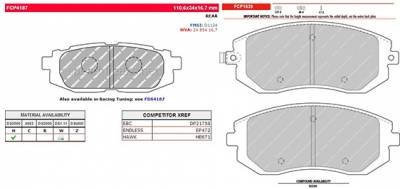Braking - Brake Packages - Ferodo  - Ferodo DS2500 Front and Rear Brake Pads Subaru BRZ / Scion FR-S (FCP1639H and FCP4187H )
