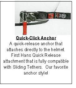 Driver - Head & Neck Restraints - Hans  - Hans Device Quick-Click Anchor Kit