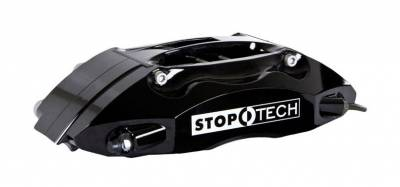 - StopTech - StopTech ST40 Leading Left 28 / 34mm pistons, Black, 28mm wide rotors