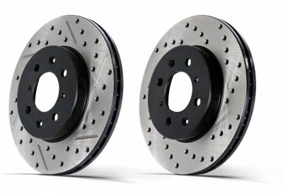 Shop by Category - Centric  - Centric Cross Drilled 120 Series Rotors Front Lexus IS-F