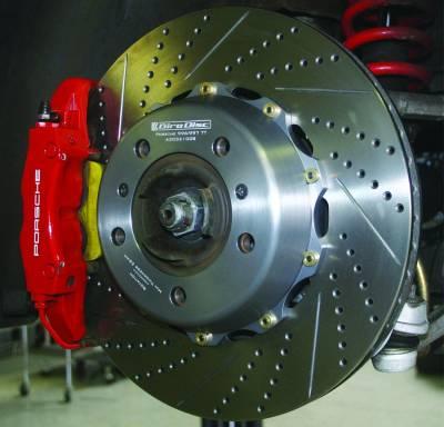 997 ('05-'12) - 997.1 GT3/GT2 ('04-'08) - Girodisc - Girodisc A1-032 Porsche 997.1 997.2 350mm Front Rotor Upgrade W/ Spacers & Hardware