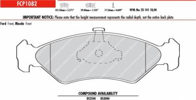 Brake Pads - Autocross Pads - Ferodo  - Ferodo DS2500 FCP1082H