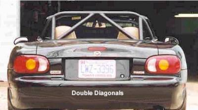 Hard Dog  - Hard Dog Mazda Miata Roll Bar M2 Hard Core - Image 3