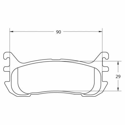 Shop by Category - Braking - Performance Friction  - Performance Friction Brake Pads 0636.11.13.44 Mazda Miata 1.8L Rear