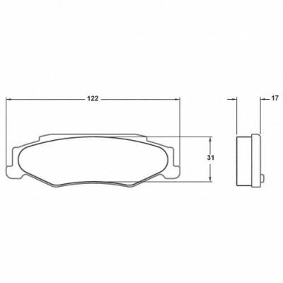 Chevrolet - Corvette C5 - Performance Friction  - Performance Friction Brake Pads 0732.11.17.44 Corvette Rear
