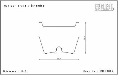 Endless  - Endless ME20 RCP082 Brake Pads Audi R8 / RS4 / RS5 / RS6 - Image 2