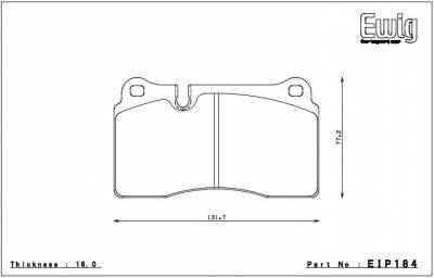 Endless  - Endless N05U EIP184 Brake Pads Rear Ferrari 458 / F430, Corvette C6 / Camaro Front - Image 2