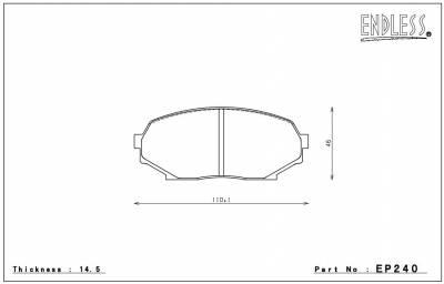 Endless  - Endless MXRS EP240 / EP241 Brake Pads Front / Rear Set Mazda Miata 90-93 - Image 4