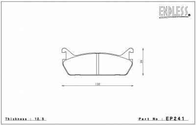 Endless  - Endless MXRS EP240 / EP241 Brake Pads Front / Rear Set Mazda Miata 90-93 - Image 5