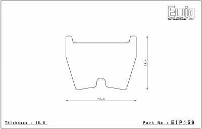 Endless  - Endless W007 EIP159 Brake Pads Audi Front - Image 2