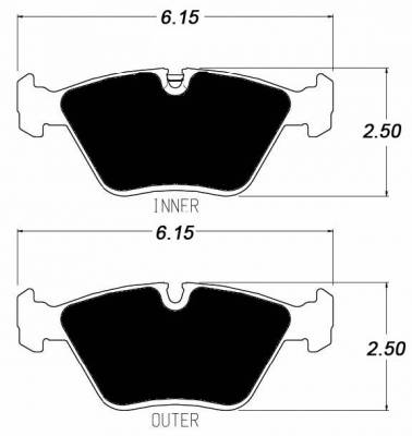 Z Series - E36/7 Z3 1996-2002 - Raybestos - Raybestos ST-45 R394 Brake Pads Front BMW E36 / E46 M3