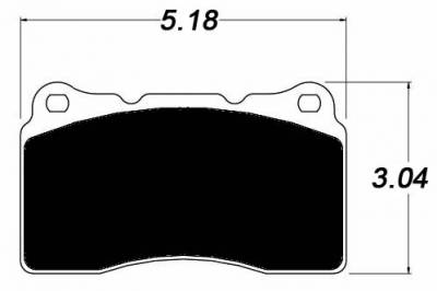 Shop by Category - Braking - Raybestos - Raybestos ST-43 R1001 Brake Pads Front Mitsubishi Evo / Subaru STI