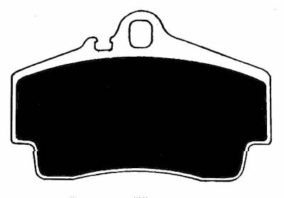 Shop by Category - Braking - Raybestos - Raybestos ST-45 RC738 Brake Pads Rear Porsche
