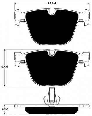 E82 1M 2011+ - Brake Pads - Porterfield - Porterfield R4 AP919 Brake Pad Rear BMW 1M / M3 / M5
