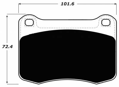Porterfield - Porterfield R4-S AP1366 Brake Pad Rear Lexus IS-F