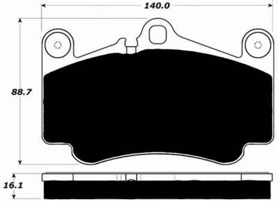997 ('05-'12) - 997.1 GT3/GT2 ('04-'08) - Porterfield - Porterfield R4 AP916 Brake Pad Front Porsche