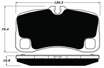 997 ('05-'12) - 997.1 GT3/GT2 ('04-'08) - Porterfield - Porterfield R4-S AP1300 Brake Pad Rear Porsche