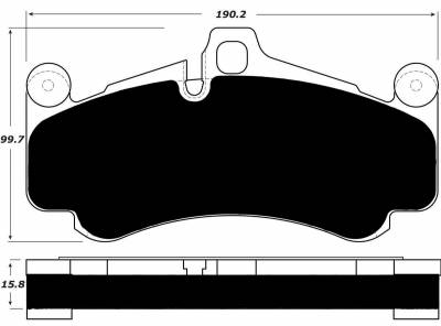 Featured Vehicles - Porsche - Porterfield - Porterfield R4-S AP1431 Brake Pad Front Porsche GT3 w/ Iron Discs